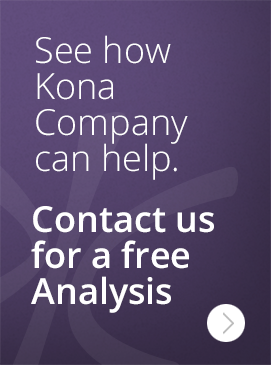 See how Kona Company can help. Contact us for a free Analysis >