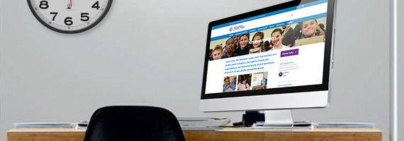 Computer Desktop on The Kindness Connection website