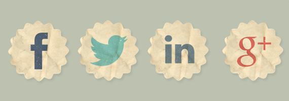 Facebook, Twitter, LinkedIn & Google+ Logos