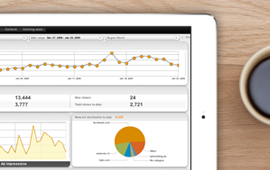Google Analytics spreadsheet on iPad