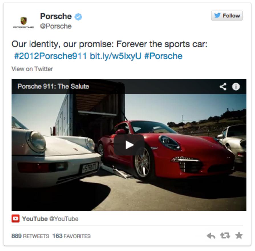 Porsche Social Media
