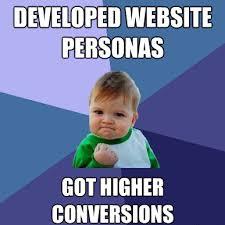 Website Personas Conversions Meme