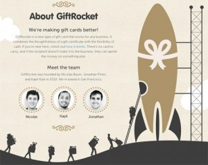 Gift Rocket About Us Page