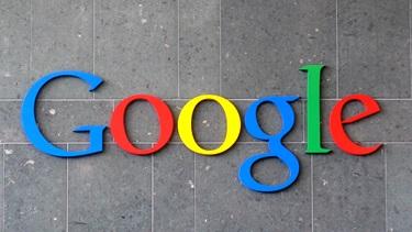 Google charcoal background logo