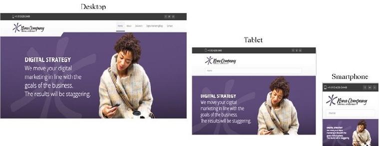 Kona Co. responsive webpage