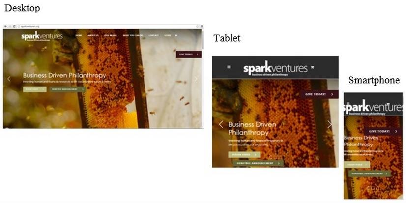 Spark Ventures responsive webpage