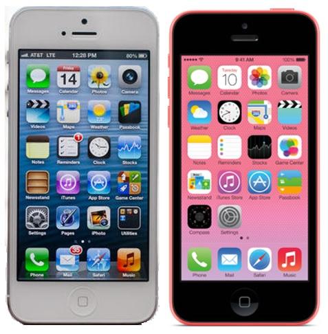 flat v. skeuomorphic iPhones